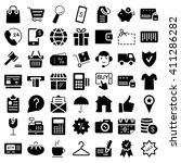 e commerce. flat web icons set.  | Shutterstock . vector #411286282
