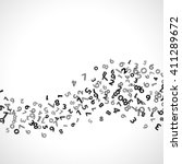 abstract math number background.... | Shutterstock .eps vector #411289672