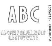 art deco style font letters | Shutterstock . vector #411290275