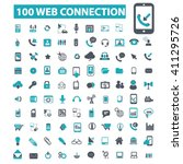 web connection icons  | Shutterstock .eps vector #411295726