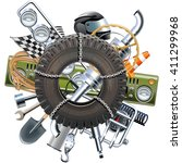 vector rally concept   Shutterstock .eps vector #411299968