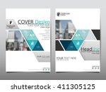 blue triangle triangle annual... | Shutterstock .eps vector #411305125