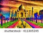 Taj Mahal Palace Colorful Oil...