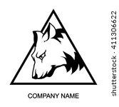 wolf logo | Shutterstock .eps vector #411306622