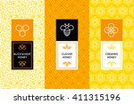 vector logo and packaging... | Shutterstock .eps vector #411315196