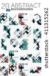 collection of abstract... | Shutterstock .eps vector #411315262