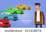 design concept of choice car... | Shutterstock .eps vector #411318076