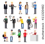 set of detailed characters... | Shutterstock .eps vector #411320482