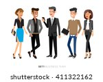 vector detailed characters... | Shutterstock .eps vector #411322162