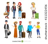 detailed character people on... | Shutterstock .eps vector #411322456