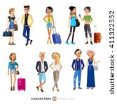 detailed character people on... | Shutterstock .eps vector #411322552