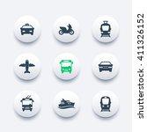 passenger transport icons ... | Shutterstock .eps vector #411326152