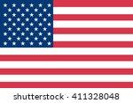 american flag | Shutterstock .eps vector #411328048