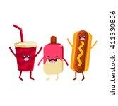 soda  ice cream and hot dog...   Shutterstock .eps vector #411330856