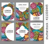 vector abstract brochures in...   Shutterstock .eps vector #411333445