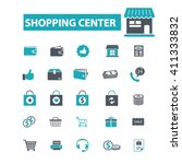 shopping center icons  | Shutterstock .eps vector #411333832