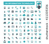 information technology icons  | Shutterstock .eps vector #411335356