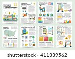 modern flat infographics of... | Shutterstock .eps vector #411339562