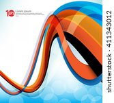 twisting lines elements design... | Shutterstock .eps vector #411343012