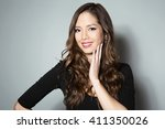 portrait of beautiful young... | Shutterstock . vector #411350026