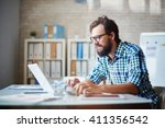 typing on laptop | Shutterstock . vector #411356542