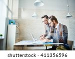 networking in office | Shutterstock . vector #411356596
