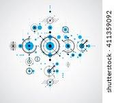 vector bauhaus blue abstract... | Shutterstock .eps vector #411359092