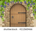 entrance to the wine cellar... | Shutterstock .eps vector #411360466