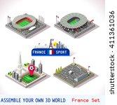 france euro stadium soccer... | Shutterstock .eps vector #411361036
