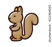 squirrel cartoon icon | Shutterstock .eps vector #411364042