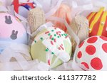 closed up of colorful easter... | Shutterstock . vector #411377782