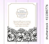 vintage delicate invitation...   Shutterstock .eps vector #411380776