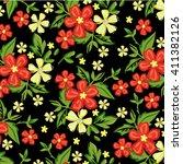 flower pattern | Shutterstock .eps vector #411382126