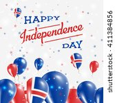 iceland independence day... | Shutterstock .eps vector #411384856