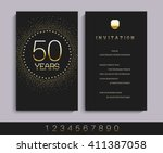 anniversary 5th  10th  20th ... | Shutterstock .eps vector #411387058