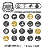 creative and marketing icon set ...
