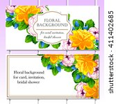 invitation with floral... | Shutterstock .eps vector #411402685