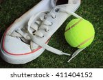 tennis and white sneakers | Shutterstock . vector #411404152