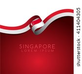 Singapore Flag Ribbon   Vector...