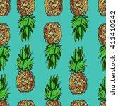 pineapple tropical vector...   Shutterstock .eps vector #411410242