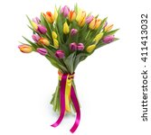 Bouquet Of Colorful Poppies On...