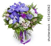 Bouquet Of Violets With Variou...