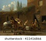 muleteers at an inn  by karel