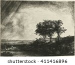 The Three Trees  By Rembrandt...