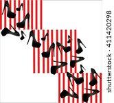 woman shoes pattern vector...   Shutterstock .eps vector #411420298