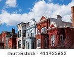 Small photo of Row houses in Washington DC on a spring day.
