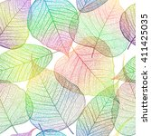 seamless pattern with leaf ... | Shutterstock .eps vector #411425035