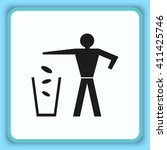 throw away the trash icon ... | Shutterstock .eps vector #411425746