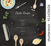 vector cooking time...   Shutterstock .eps vector #411428626