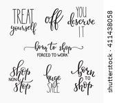 shopping retail sticker... | Shutterstock .eps vector #411438058